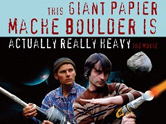 This Giant Papier-Mâché Boulder Is Actually Really Heavy
