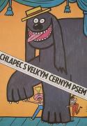 Junge mit dem großen schwarzen Hund, Der