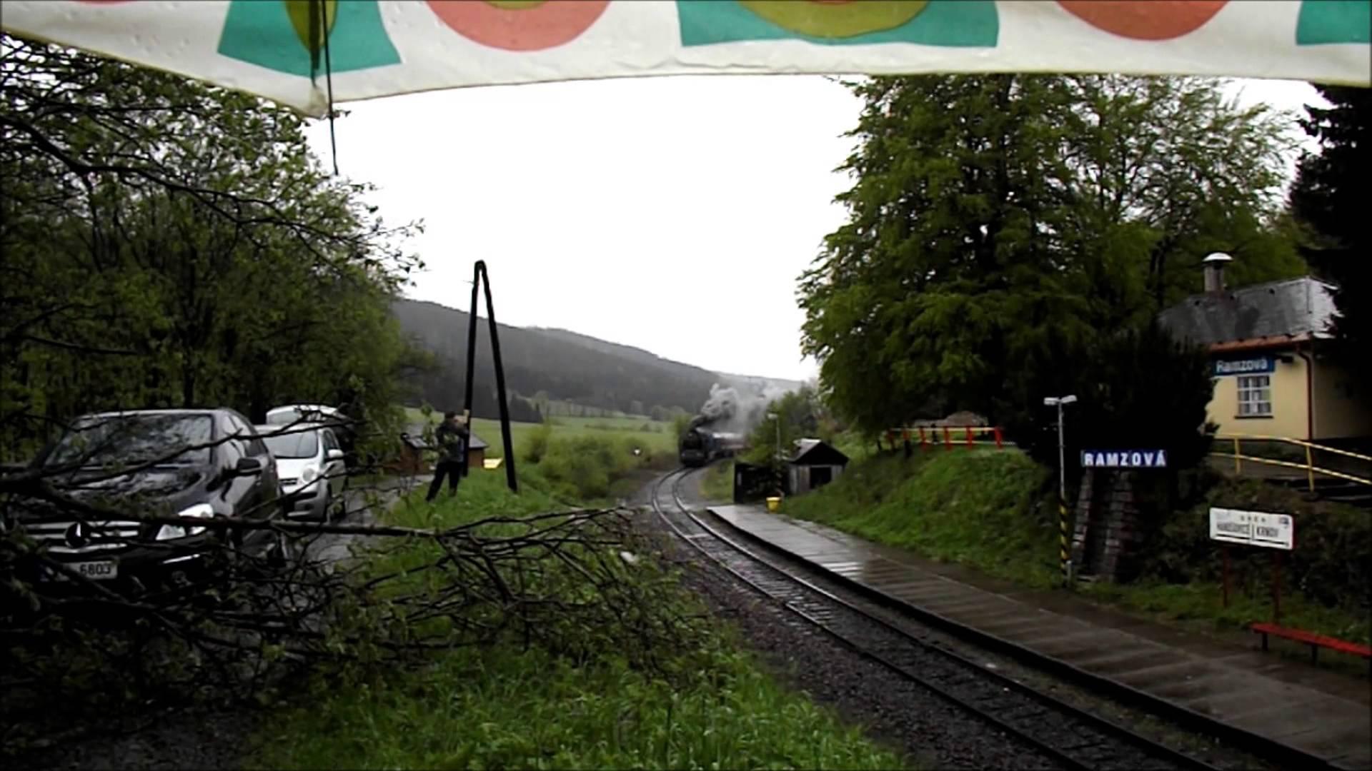 ČD 464.008 Ušatá, nostalgický parní vlak Vincenz Priessnitz; 17.V.2014 [HD]