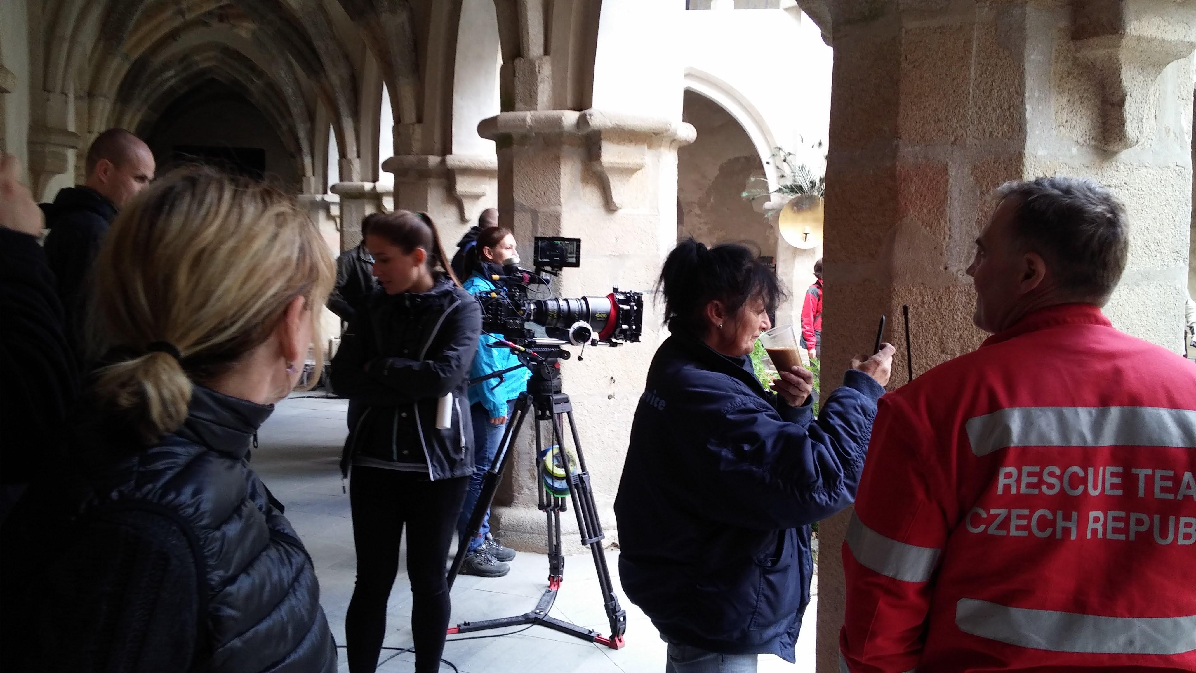 Hlas pro římského krále (2016) - natáčení na hradě Zvíkov 27.9.2015