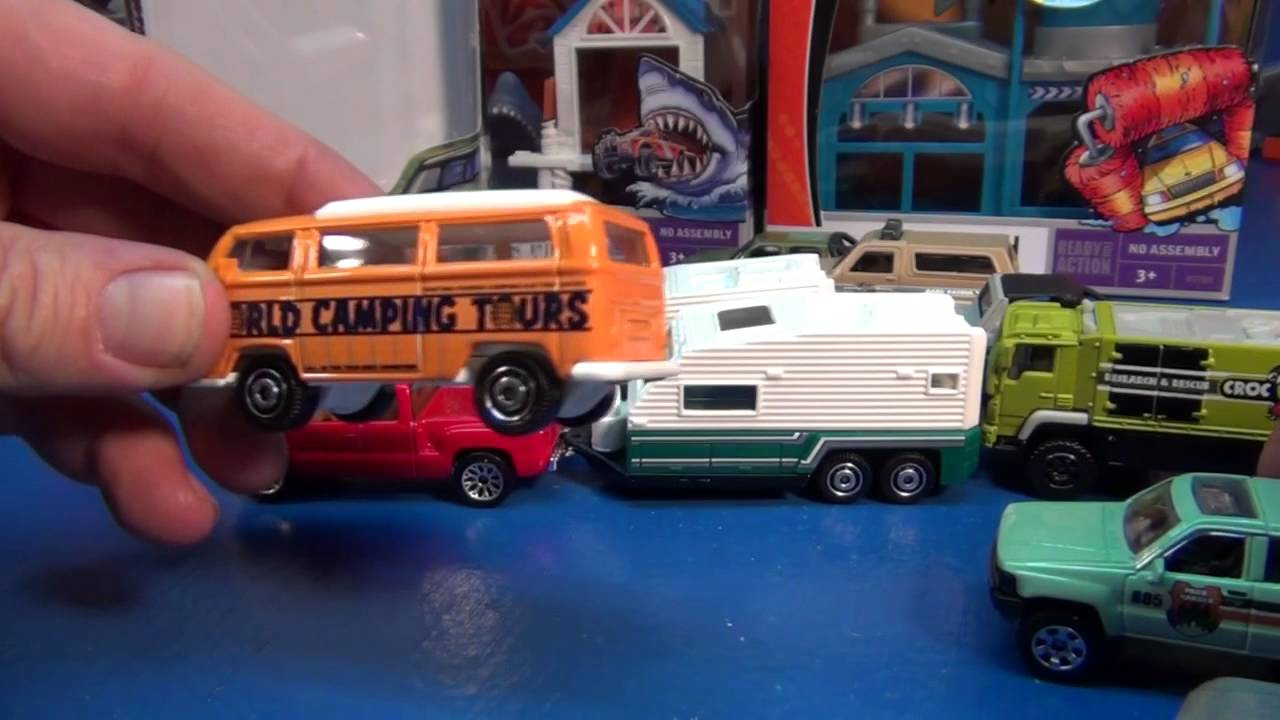 Matchbox Camping Adventure 5-pack with Travel Trailer