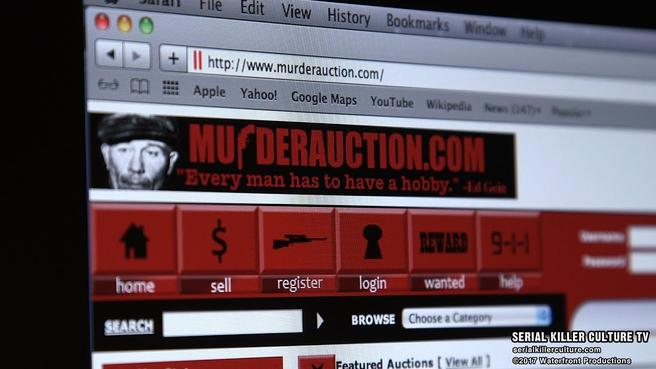 MURDER AUCTION - SERIAL KILLER CULTURE TV TRAILER