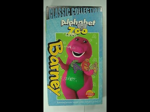 Opening & Closing To Barney's Alphabet Zoo 1999 VHS