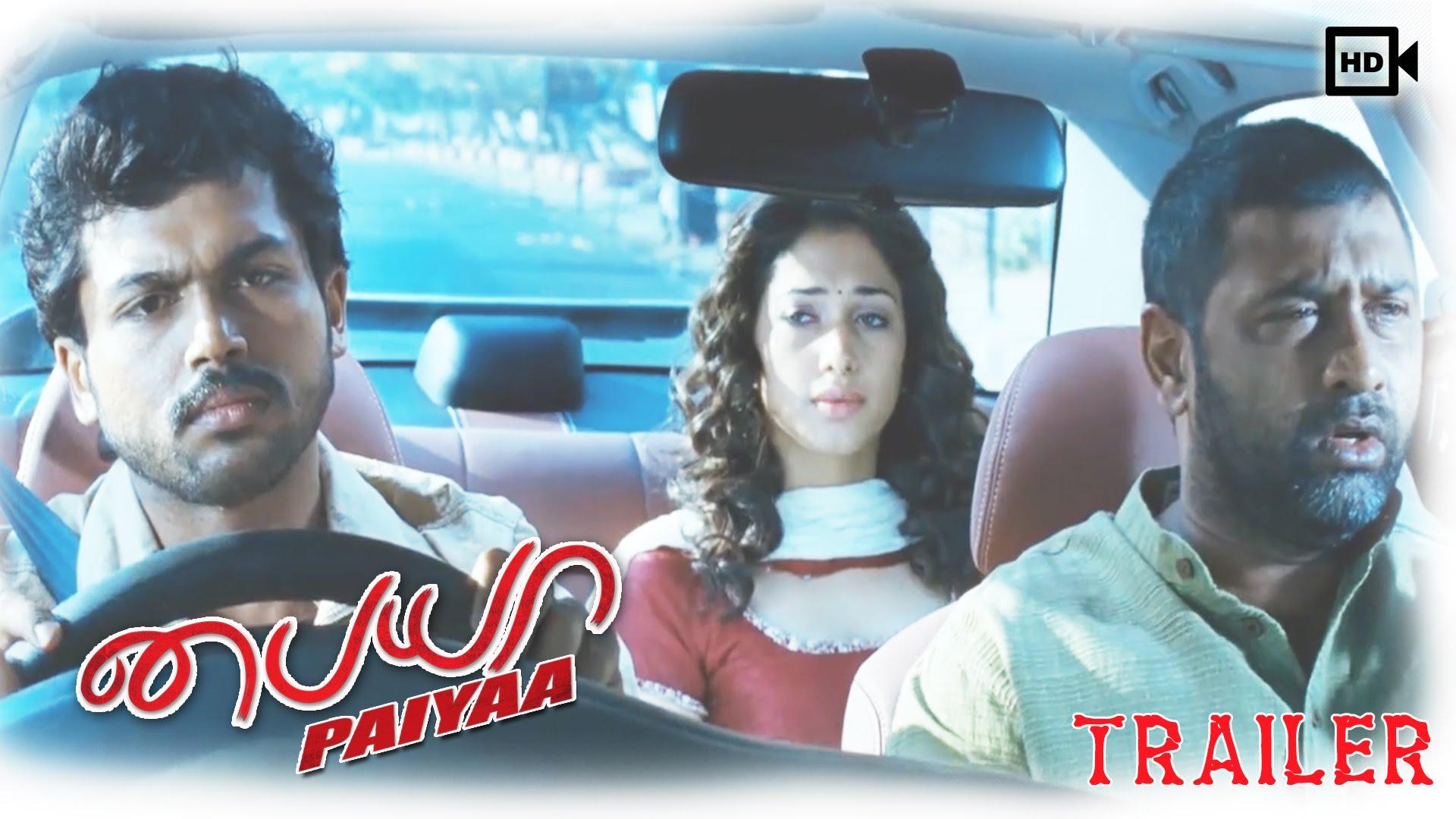 Paiyaa Tamil Movie - Trailer   Karthi, Tamannaah, Jagan   Yuvan Shankar Raja   HD 1080p