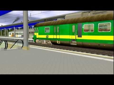 Rozjezd elektrické jednotky řady 460 v Trainzu